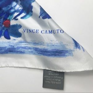 Vince Camuto   💯 Silk Floral Red and Blue Scarf